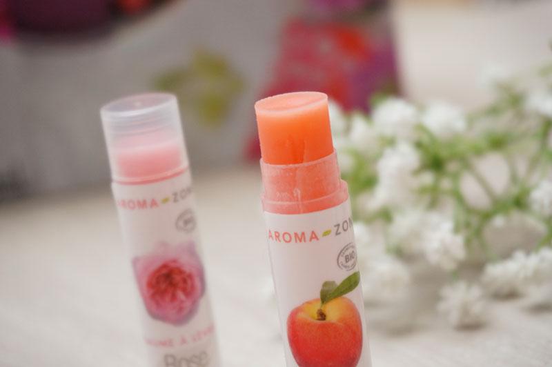 baumes à lèvres Aroma-Zone bio naturel