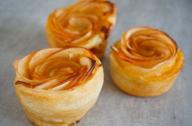 "Tartelettes ""rose"" aux pommes"