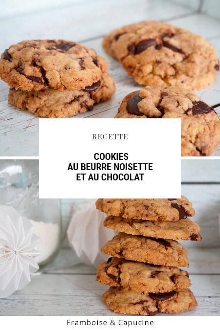 Cookies au beurre noisette et au chocolat