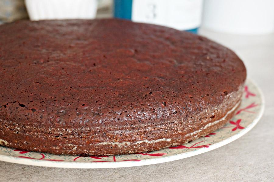 Gâteau au chocolat et à la betterave rouge