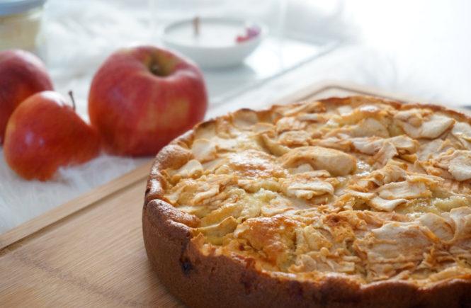 Moelleux aux pommes et à la frangipane