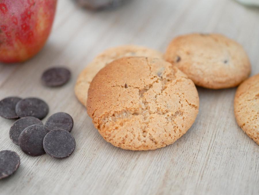 cookies pépites de chocolat sans œufs compote de pomme