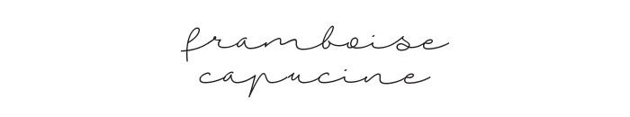 Framboise & Capucine
