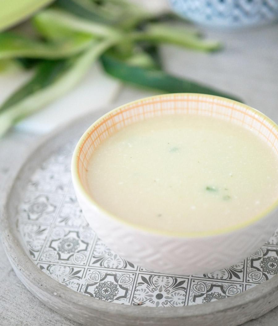 soupe courgette chèvre