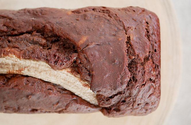 Banana bread au chocolat