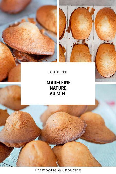 Madeleine au miel