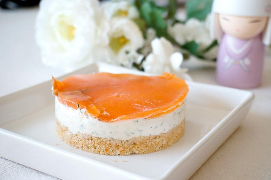 cheesecake saumon sans cuisson