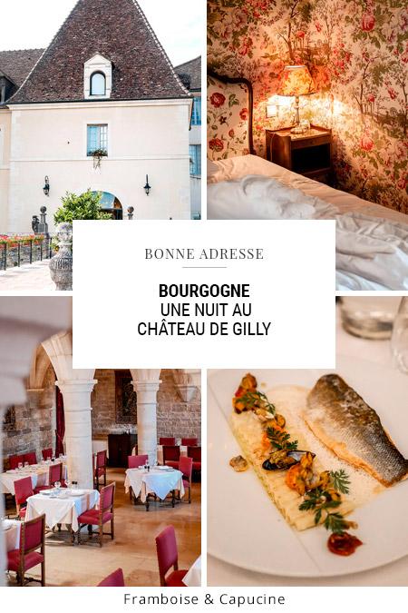 Bourgogne une nuit au Château de Gilly