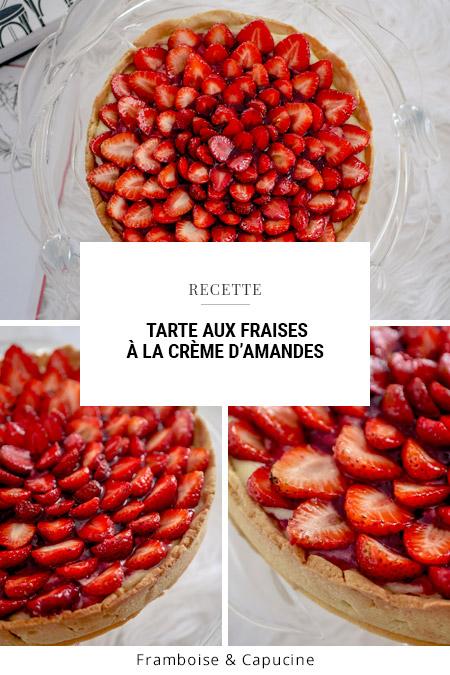 Tarte aux fraises à la crème d'amandes