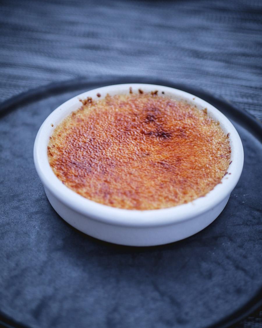 Crème brûlée à l'amande