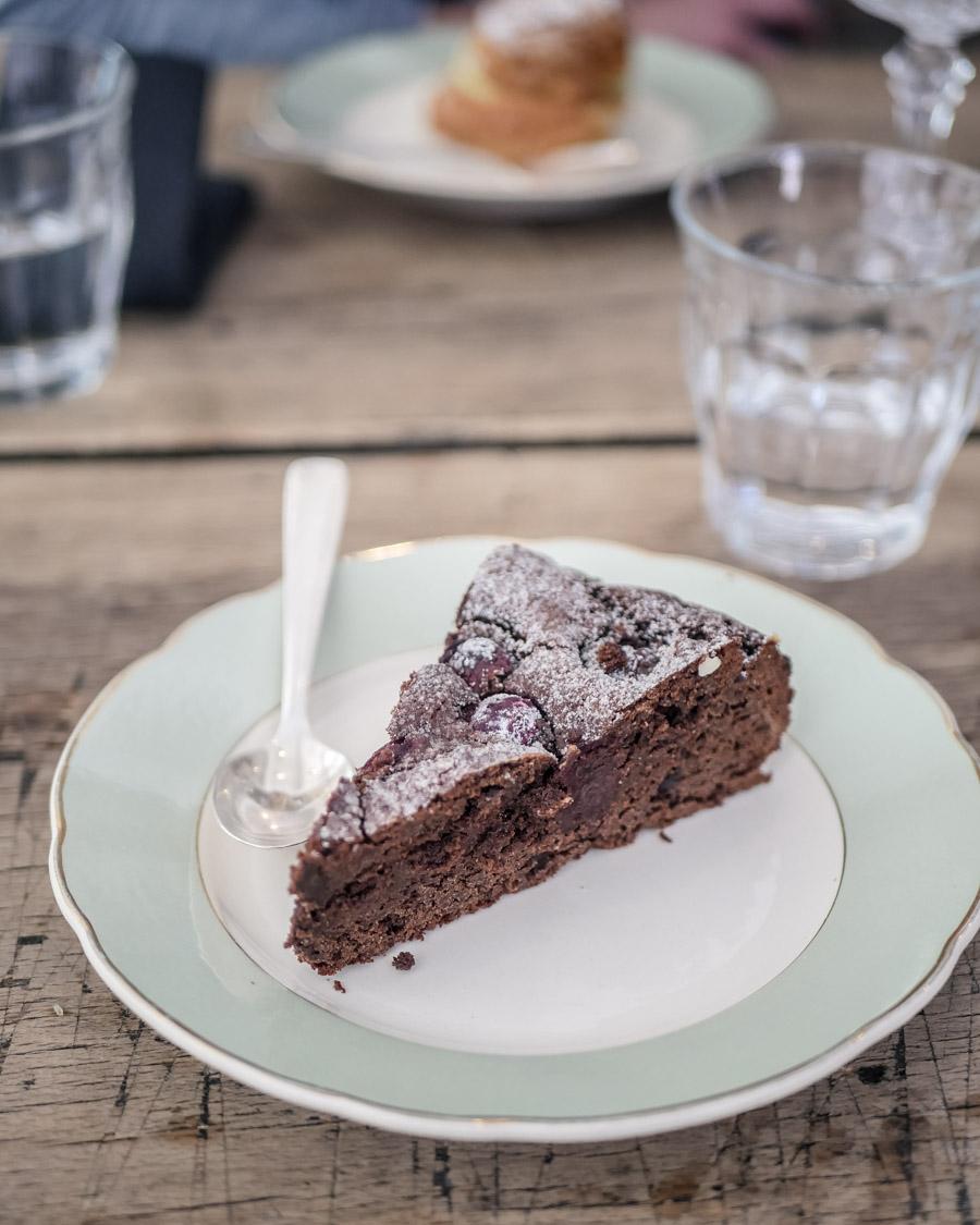 Chez Jo Gâteau chocolat cerises