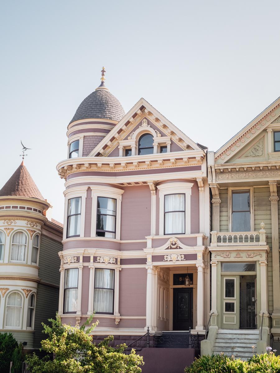 Ouest américain San Francisco maisons victoriennes