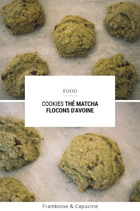 Cookies thé matcha flocons d'avoine
