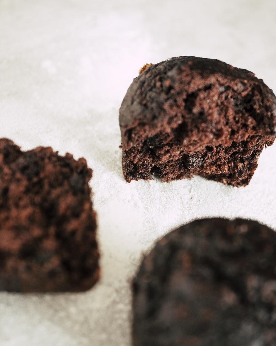 Muffins bananes, chocolat et flocons d'avoine