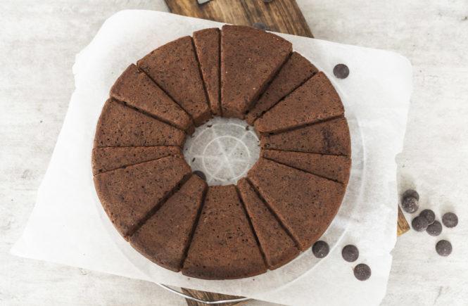 Gâteau 100% chocolat aux pépites de chocolat