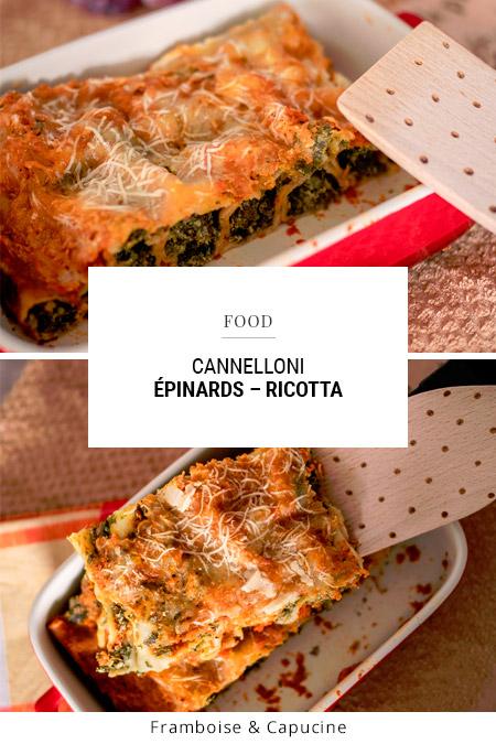 Recette : Cannelloni épinards – ricotta