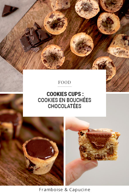 Recette Cookies cups : cookies en bouchées chocolatées