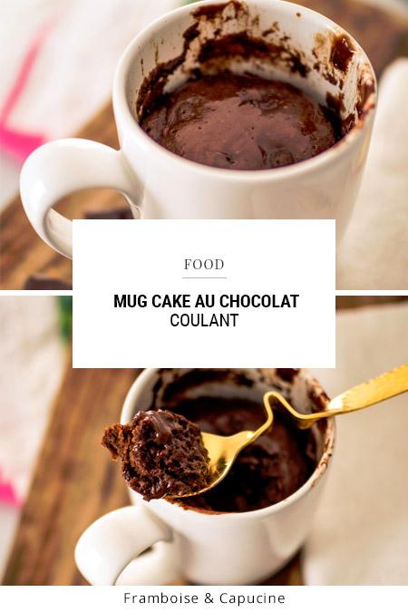 Recette Mug cake au chocolat coulant