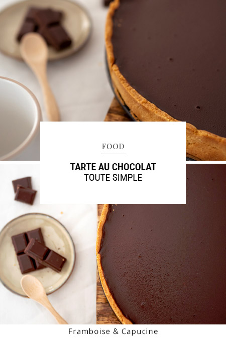 Tarte au chocolat toute simple