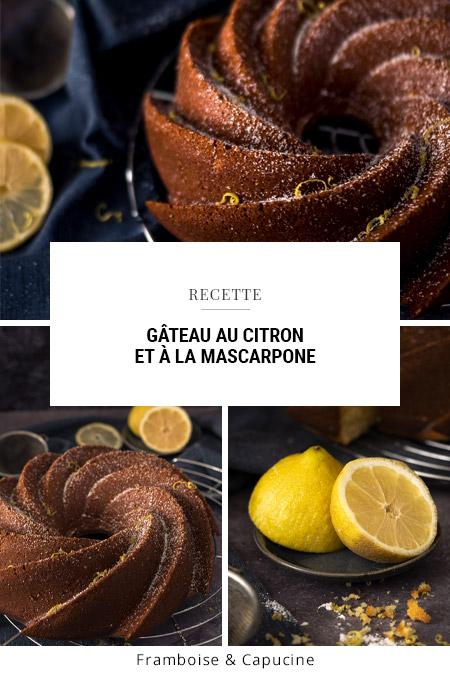 Gâteau au citron et à la mascarpone