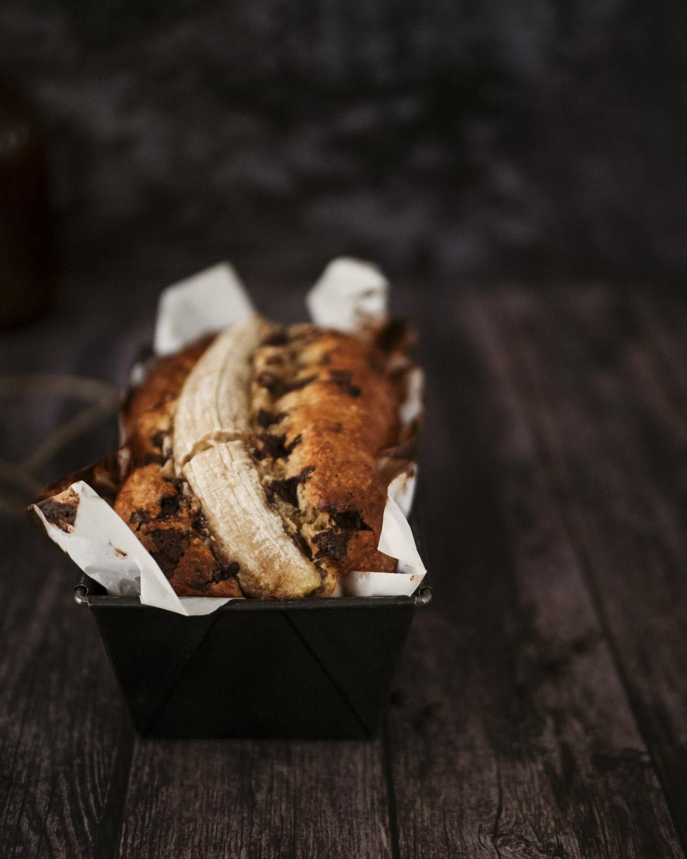 banana bread noix de coco chocolat