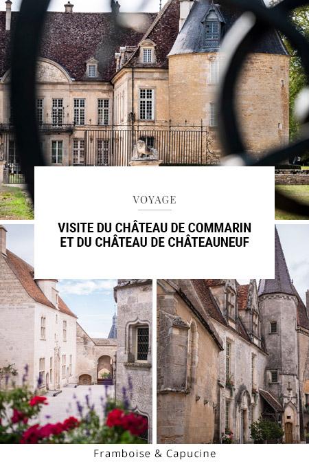 Visite du Château de Commarin et du château de Châteauneuf