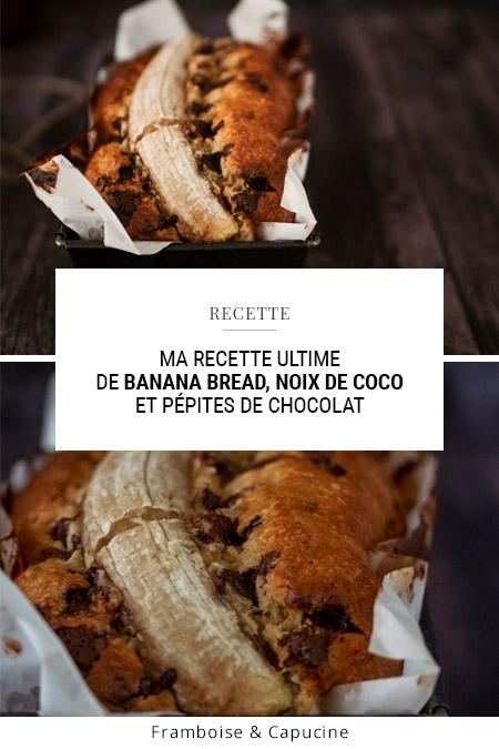 Ma recette ultime de banana bread, noix de coco et pépites de chocolat
