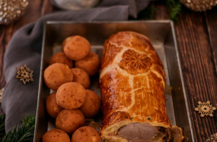 Filet de porc en croûte feuilleté, bacon et Brillat-Savarin