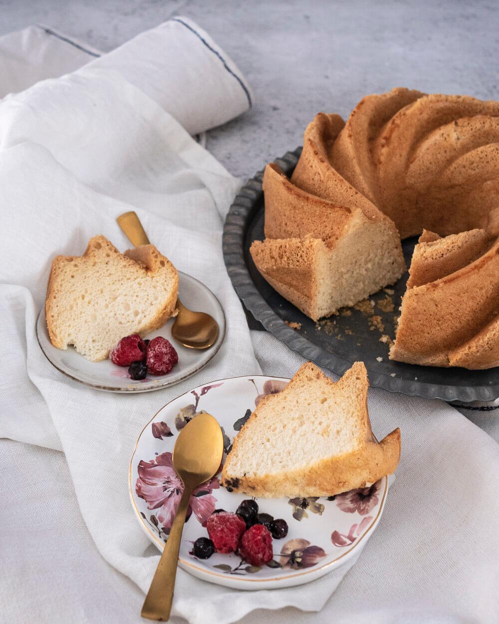 Angel cake ou gâteau des anges moelleux