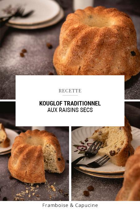 Kouglof traditionnel aux raisins secs