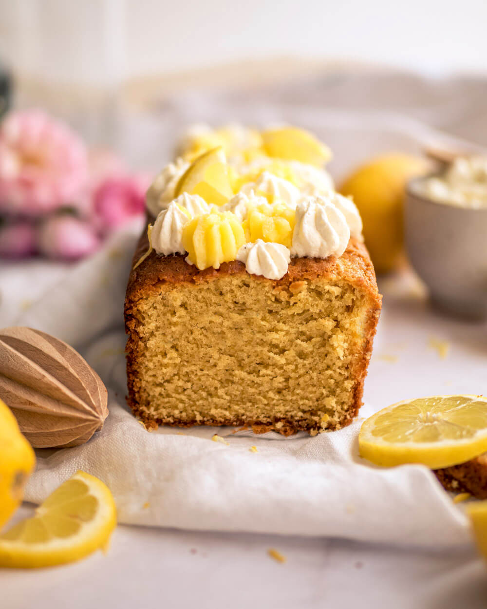 cake au citron et au mascarpone, lemon curd, chantilly mascarpone