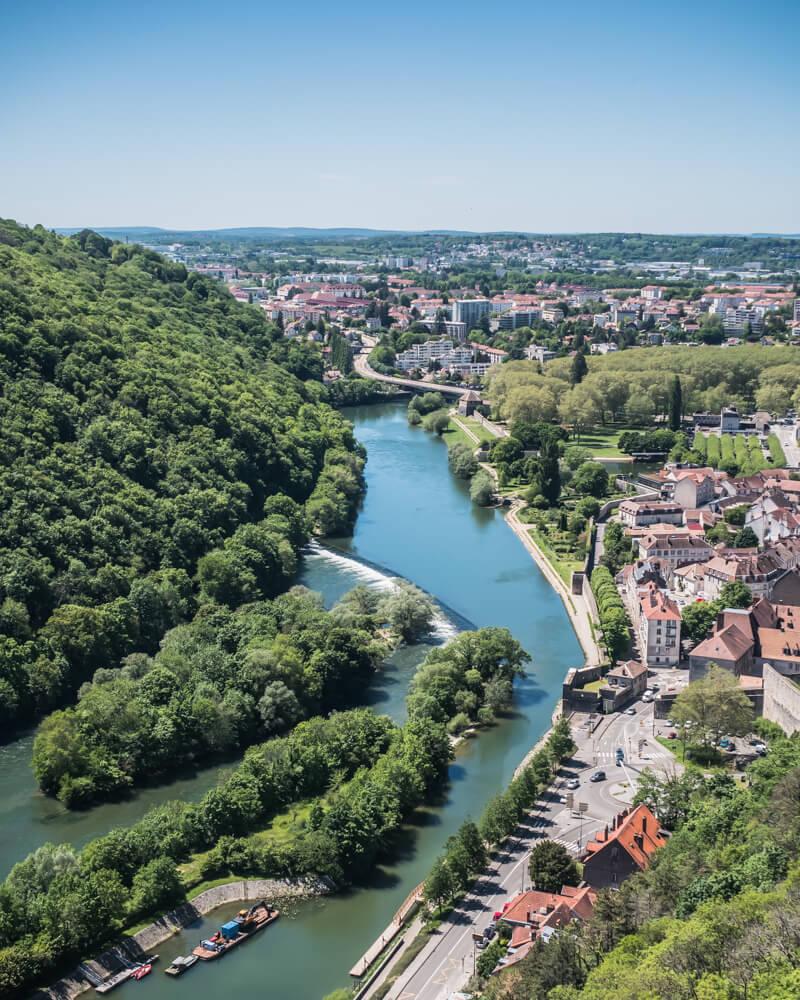 Citadelle de Besançon vue sur le Doubs