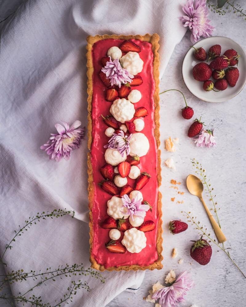 tarte mousse fraises
