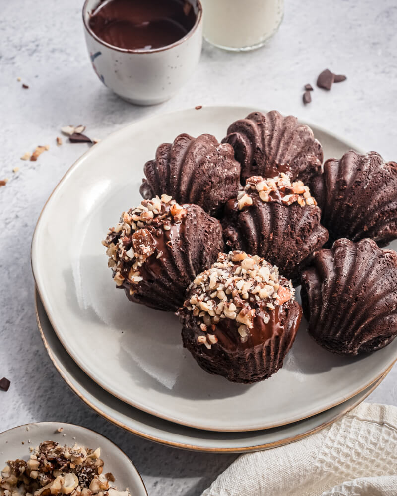 Madeleines moelleuses au chocolat