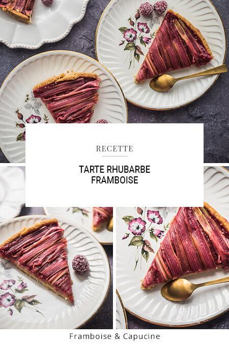 Tarte rhubarbe - framboise
