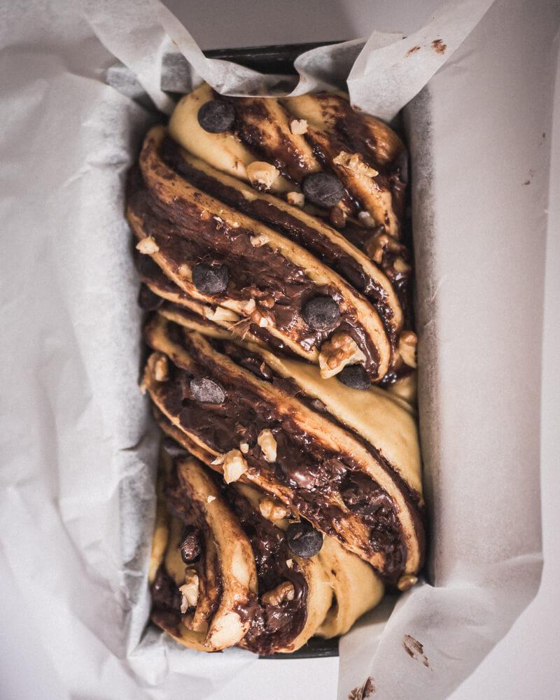 Brioche babka nutella