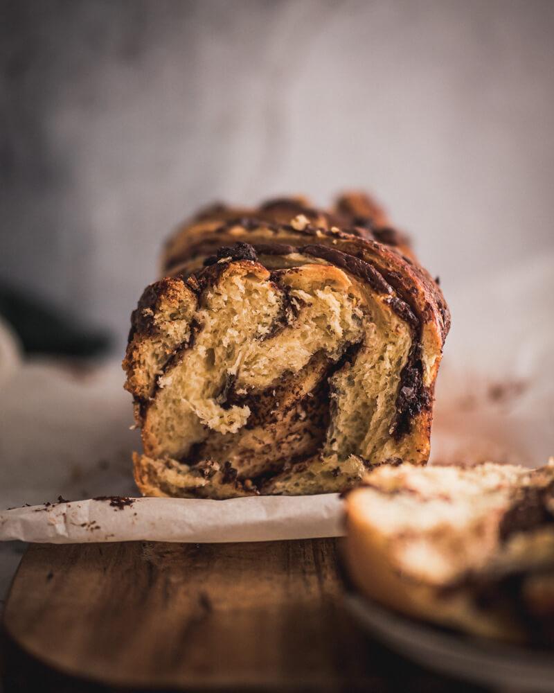 Brioche babka pâte à tartiner